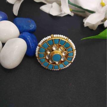 turquoise Kundan ring