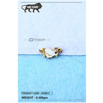 18 carat gold Kids pendent bird ipg0013