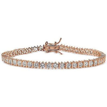 18kt rose gold diamond studded bracelet for women jkb039