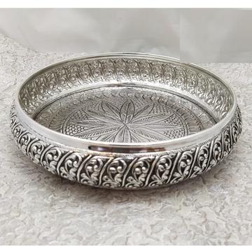 925 Pure Silver Antique Pooja Thali PO-263-36 by Puran Ornaments