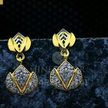 18kt Fancy Cz Plain Gold Ladies Tops ATG -0526