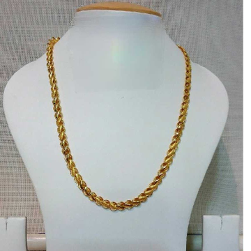 22k Gents Fancy Gold Lotus Chain G-6407