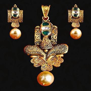 22Kt 916 Gold Jadter Meena  Chain Pendal Set RH-JS01