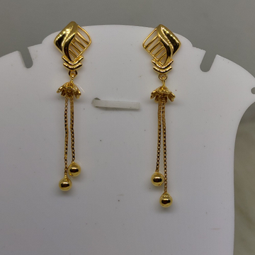 22kt gold plain, latkan earring sog-e031 by S. O. Gold Private Limited