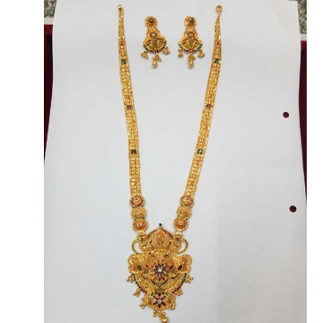 22KT Gold Fancy Long Necklace Set