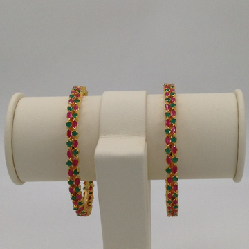 Red And Green CZ Bangles JBG0027