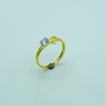 22ct gold diamond - heart ring for women by