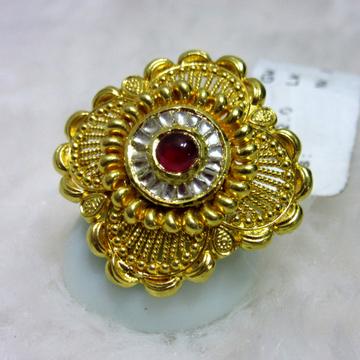 gold hm916 22k heritage jadtar ring by