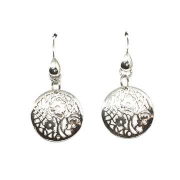 925 Sterling Silver Round Shape Earring MGA - BTS0098