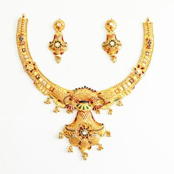 22k gold necklace set mga - gn0033