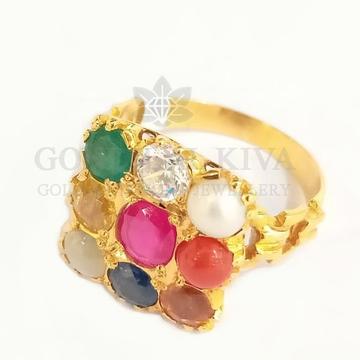 18kt gold navratni ring gnr10