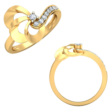 22KT Yellow Gold Audrina Ring For Women