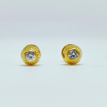 18 KT 750 Hallmark fancy delicate single diamond L... by Harekrishna Gold