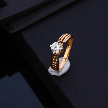 18KT Rose Gold Light Weight Ring  by Gharena Jewellers
