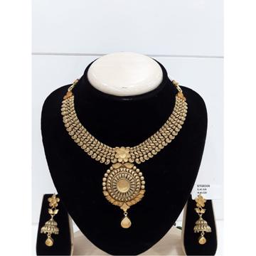 916 Gold Polki Necklace Set Khokha VJ-N006