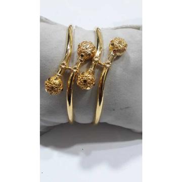 916 Designer Gold Fancy Beaded Copper Kadli by