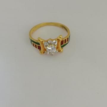 916 gold fancy ladies ring by Vinayak Gold