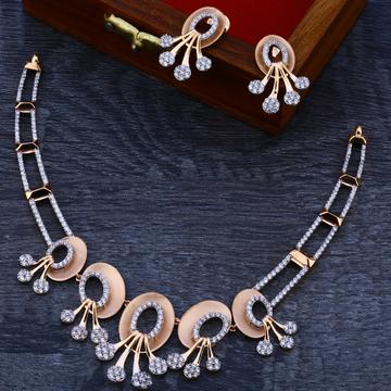 18ct   Rose Gold Hallmark  Fancy  Necklace Set RN69