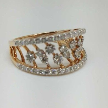 Real Diamond Rose Gold Branded Ladies Ring