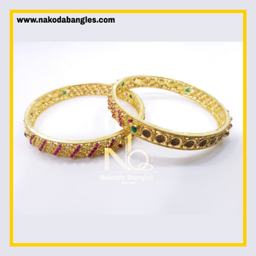 916 Gold Chakri Bangles NB - 853