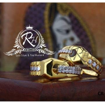 22 carat gold love forever couple rings RH-CR821