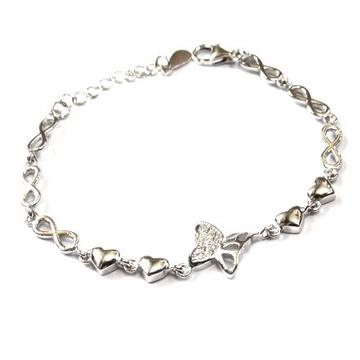 925 Sterling Silver Butterfly Bracelet MGA - BRS0415