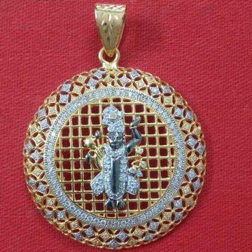22KT Gold Casting Shrinathji Pendant