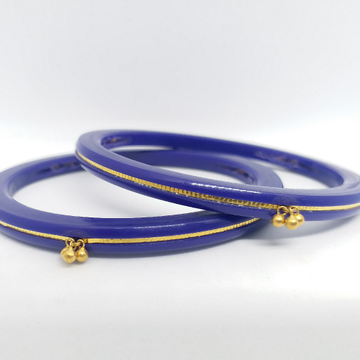 22 kt 916 dark blue rad-chudi women by Zaverat