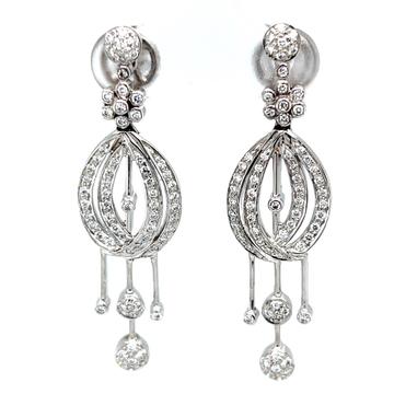 Sorprendente diamond earrings in 14k white gold 8TOP223