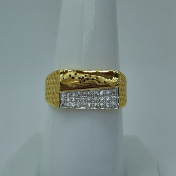 22k rhodium plated fancy gents ring by Shree Sumangal Jewellers