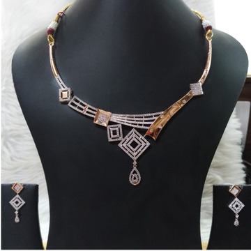18kt gold attractive wedding necklace set