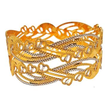 1 gram gold forming 2 piece bangles mga - bge0298
