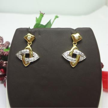 916 gold cz earrings by