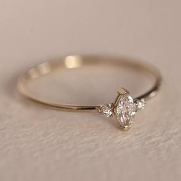 delicate marquise ring by