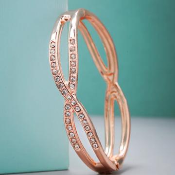 18k Diamond Rose Gold Bracelet For Women by