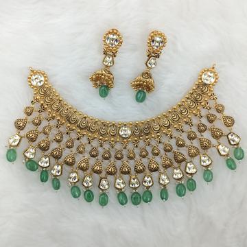 916 GOLD FULL NECK BRIDLE CHOKAR SET by Ranka Jewellers