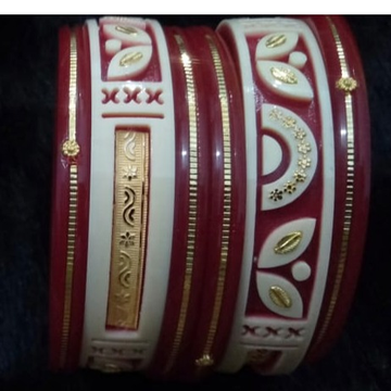 Plastic Traditional Gold Hallmark Bangle  by