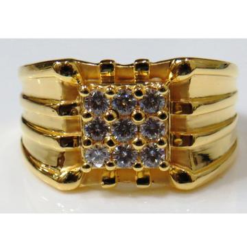 22kt gold casting cz designer gents ring gr-14
