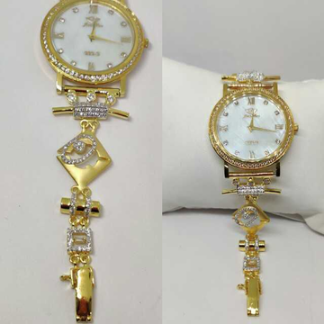 18k Ladies Fancy Gold Indian Watch G-2238