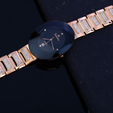 Gents watch rosegold cz 18ct by