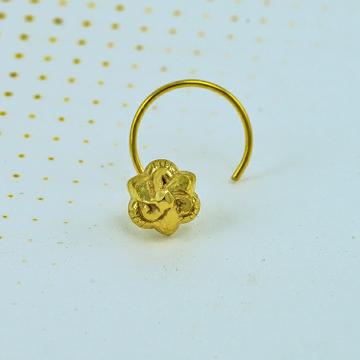 Plain gold embows nosepin by Shree Narayani Gold