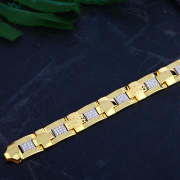 Mens Gold 916 Bracelet-MCB76