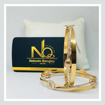 916 Gold CNC Bangles NB - 718