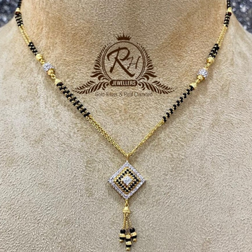 22 carat gold latest daimond ladies mangalsutra RH-MS391