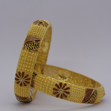 22kt Gold Calcutti Bangels by