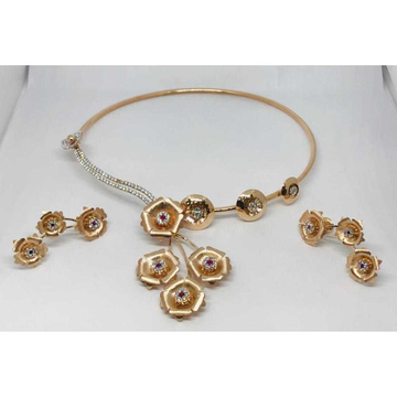 18k Ladies Fancy Rose Gold Set S-57526