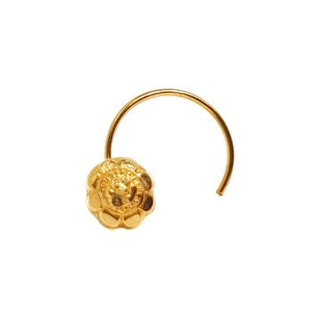 18K Gold Round Shape Nosepin MGA - GN0010