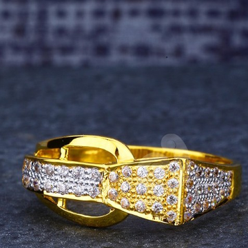 22ct fancy cz gents ring
