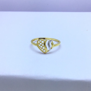 designing heart fancy gold ladies ring