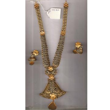 22Kt Gold Antique Hanihar For Bridal PJ-N010